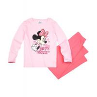 Pyžamo Disney Minnie s dlhým rukávom slabo ružové