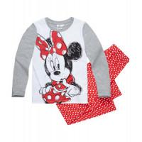 Pyžamo Disney Minnie s dlhým rukávom šedo-červené