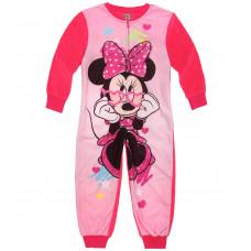 Dievčenské pyžamo dlhé Disney Minnie teplý overal (flis)