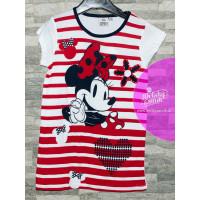 Nočná košeľa Disney Minnie červená letná
