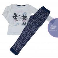 Dlhé dievčenské pyžamo Disney Minnie biele 134-164