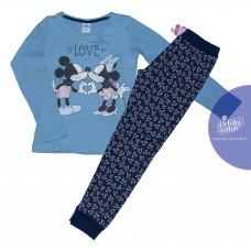 Dlhé dievčenské pyžamo Disney Minnie modré 134-164