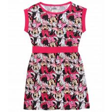 Letné dievčenské šaty Minnie s krátkym rukávom