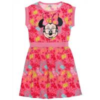 Letné dievčenské šaty Minnie s krátkym rukávom ružové