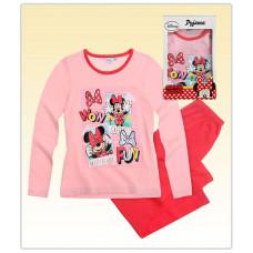 Pyžamo Disney Minnie s dlhým rukávom ružové