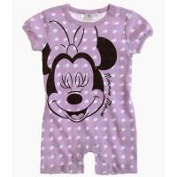 Kojenecký letný overal Disney Minnie fialový