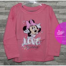 Tričko Disney Minnie s dlhým rukávom ružové