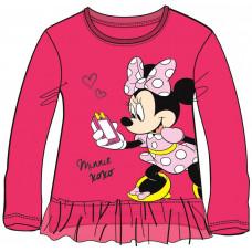 Tričko Minnie s dlhým rukávom ružové 116