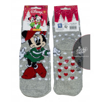 Dievčenské vianočné ponožky Disney Minnie šedé
