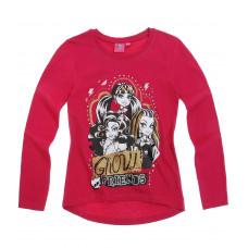 Tričko Monster High s dlhým rukávom červené