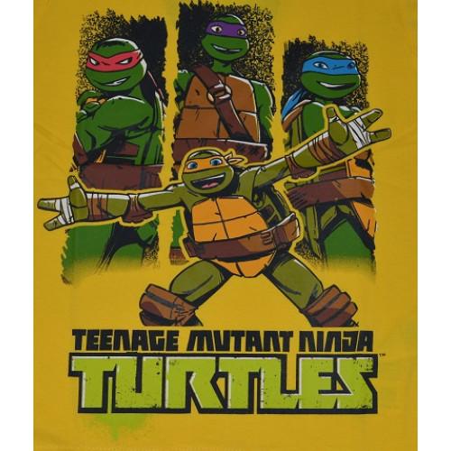edcaea5ed66a ... Chlapčenské letné tričko Ninja Korytnačky žlté