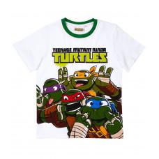 Chlapčenské letné tričko Ninja Korytnačky biele