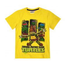Chlapčenské letné tričko Ninja Korytnačky žlté