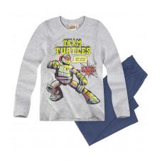 Pyžamo chlapčenské Ninja Korytnačky šedo-modré