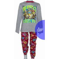 Pyžamo chlapčenské šedé Ninja Korytnačky