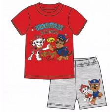 Chlapčenské letné pyžamo Paw Patrol červeno-šedé