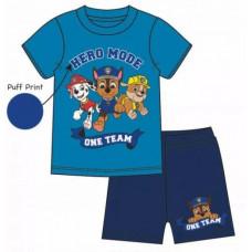 Chlapčenské letné pyžamo Paw Patrol modré
