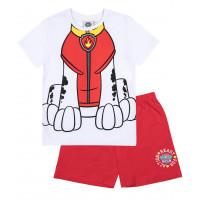 Chlapčenské letné pyžamo červené Paw Patrol
