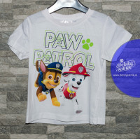 Chlapčenské tričko letné Paw Patrol biele