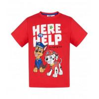 Tričko Paw Patrol s krátkym rukávom červené