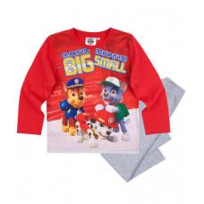 Chlapčenské dlhé pyžamo dlhé Paw Patrol červeno-šedé
