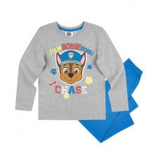 Chlapčenské dlhé pyžamo dlhé Paw Patrol šedo-modré