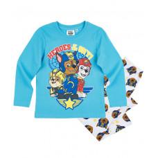 Chlapčenské dlhé pyžamo dlhé Paw Patrol tyrkysové