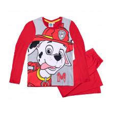 Chlapčenské pyžamo dlhé Paw Patrol červené1