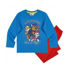 Chlapčenské dlhé pyžamo dlhé Paw Patrol modré