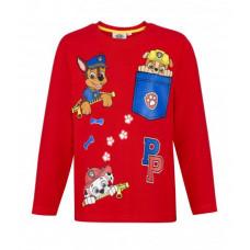 Chlapčenské dlhé tričko Paw Patrol červené 1 č.98