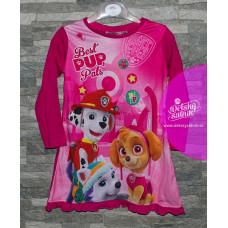 Dievčenská nočná košeľa Paw Patrol tmavo ružová