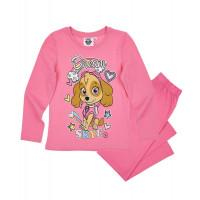 Dievčenské dlhé pyžamo Paw Patrol bledo ružové