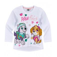 Dievčenské tričko Paw Patrol biele