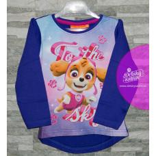 Dievčenské tričko Paw Patrol modré č. 122,128