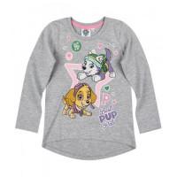 Dievčenské tričko Paw Patrol šedé