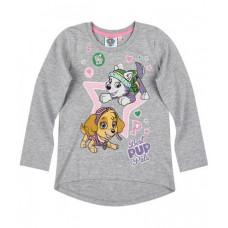Dievčenské tričko Paw Patrol šedé č.128