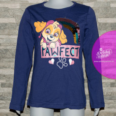 Dievčenské tričko Paw Patrol modré s flitrami