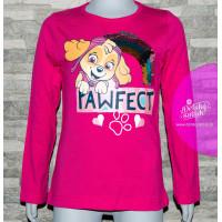 Dievčenské tričko Paw Patrol ružové s flitrami