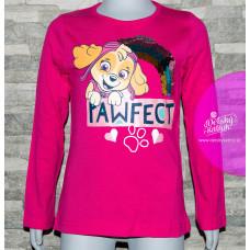 Dievčenské tričko Paw Patrol ružové s flitrami 98,104