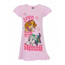 Dievčenská letná nočná košeľa Paw Patrol ružová