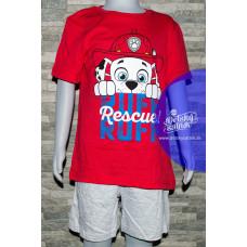 Chlapčenské letné pyžamo Paw Patrol Marshall červené