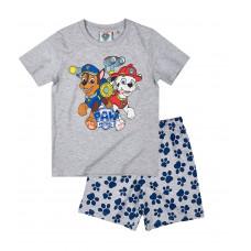 Chlapčenské letné pyžamo Paw Patrol šedé