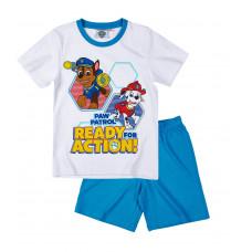 Chlapčenské letné pyžamo Paw Patrol biele