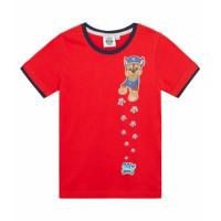 Chlapčenské tričko letné Paw Patrol červené
