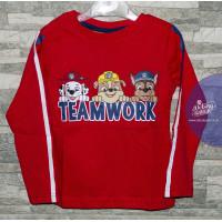 Paw Patrol chlapčenské dlhé tričko červené