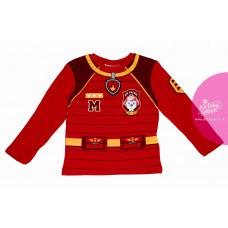 Chlapčenské dlhé tričko Paw Patrol červene