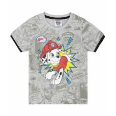 Chlapčenské tričko letné Paw Patrol šedé