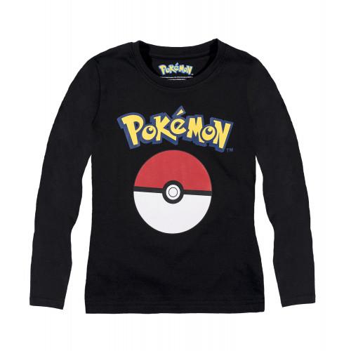 3016173f8b7a Tričko Pokémon s dlhým rukávom čierne ...
