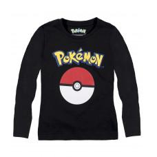 Tričko Pokémon s dlhým rukávom čierne