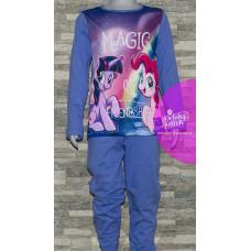 Dievčenské dlhé pyžamo My Little Pony modré